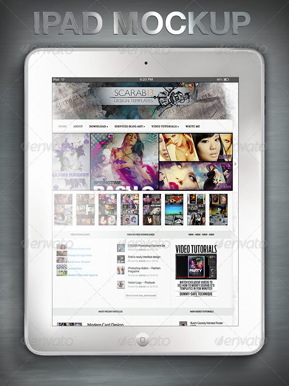 GraphicRiver White Tablet Mockup 4845501