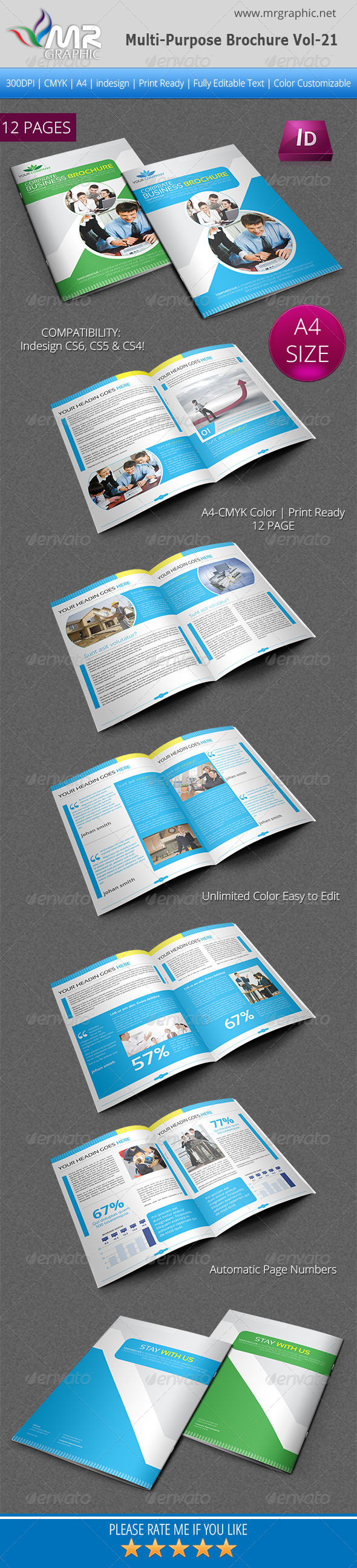 GraphicRiver Multipurpose Business Brochure Template Vol-21 4699711