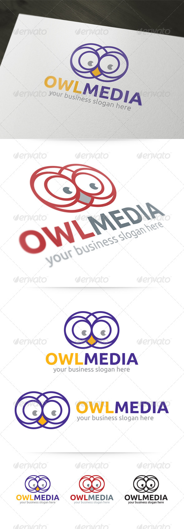 GraphicRiver Owl Media Logo 4830898