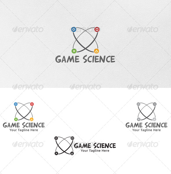 GraphicRiver Game Science Logo Template 4847083