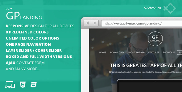 ThemeForest GP Landing Responsive One Page Landing Template 4844756