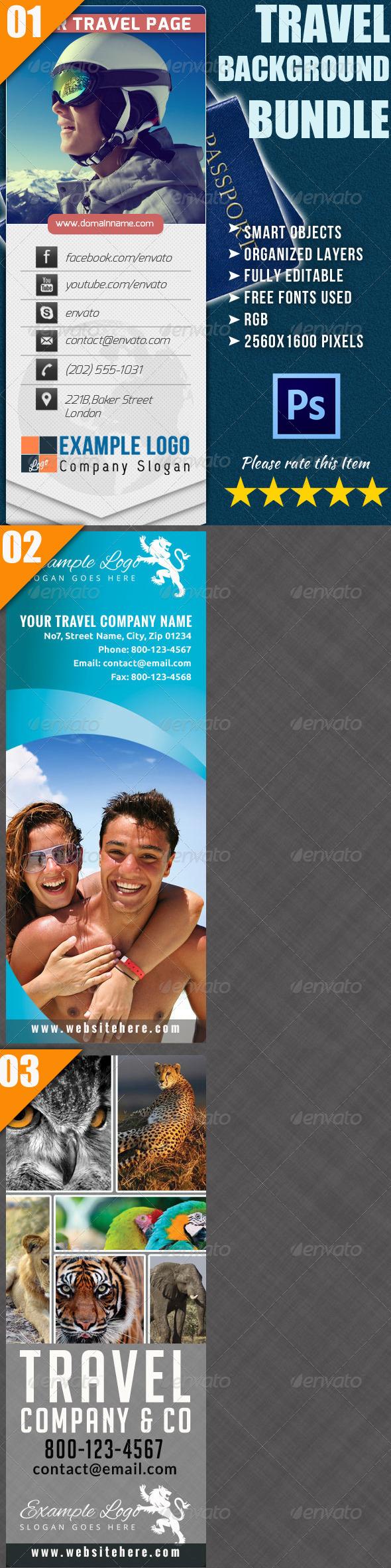 Travel Twitter Background Bundle