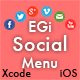 EGi Social Menu - Fantastic Social Menu for iPhone