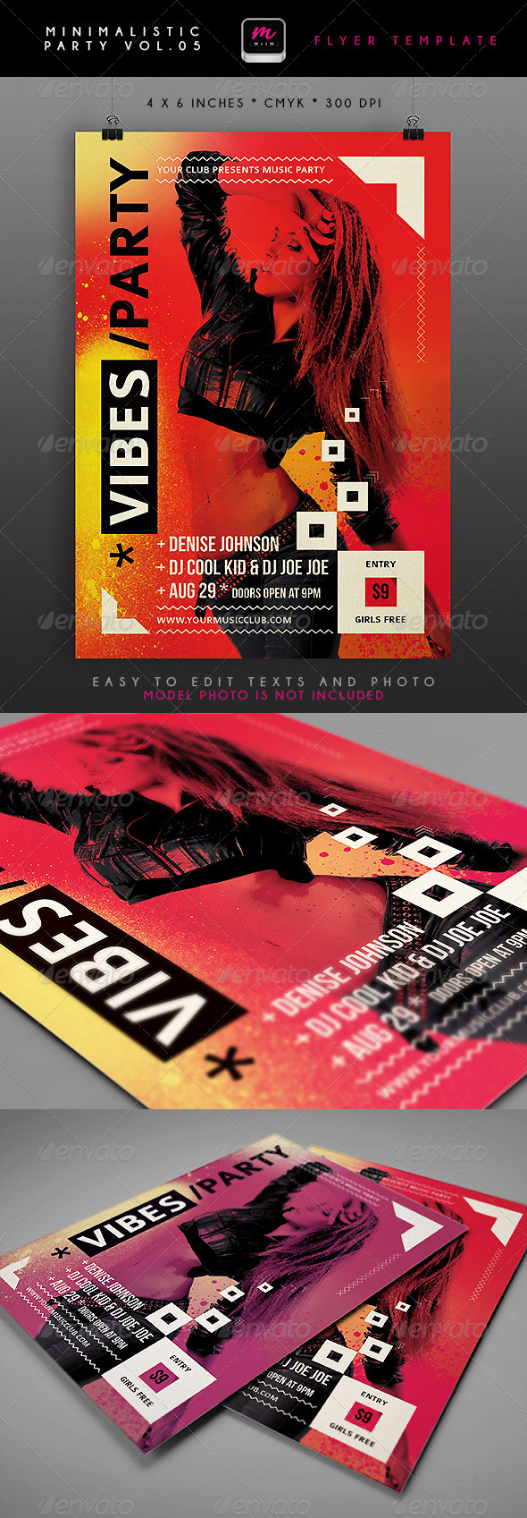 GraphicRiver Minimalistic Party Flyer 5 4848141