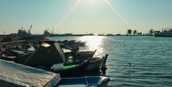 Boats in the Sunset 1