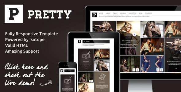 Pretty - Clean & Modern Responsive Portfolio Site - Creative Site Templates