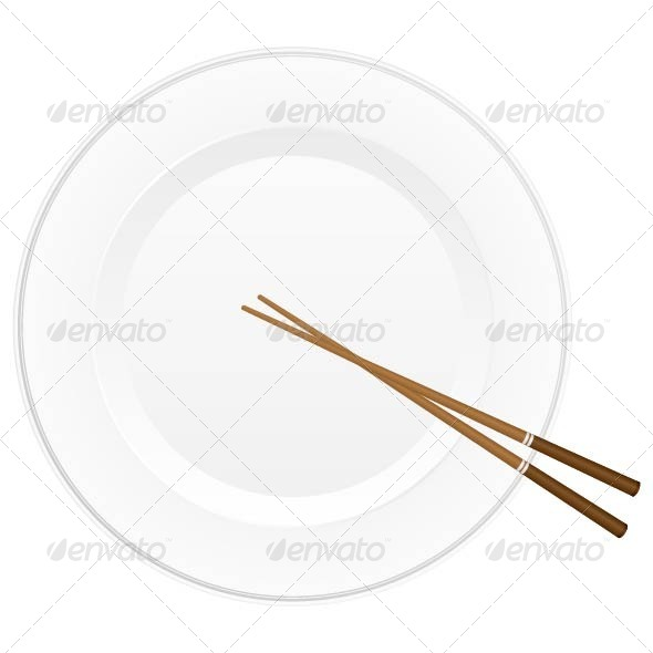 GraphicRiver Chopsticks and Plate 4848838