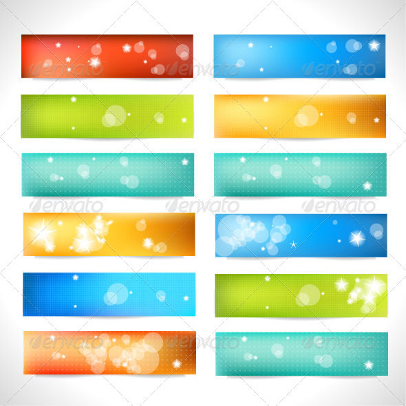 GraphicRiver Set of Color Banner 4490312