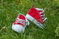kids shoes on grass - PhotoDune Item for Sale