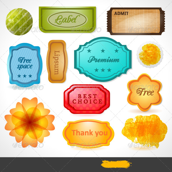 GraphicRiver Vector Labels 4490117