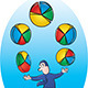 Pie Chart Juggler - GraphicRiver Item for Sale