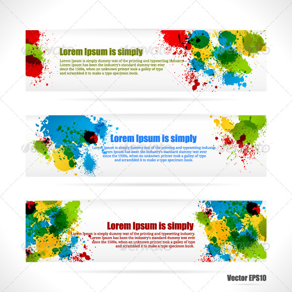 GraphicRiver Color web Banners 4489645
