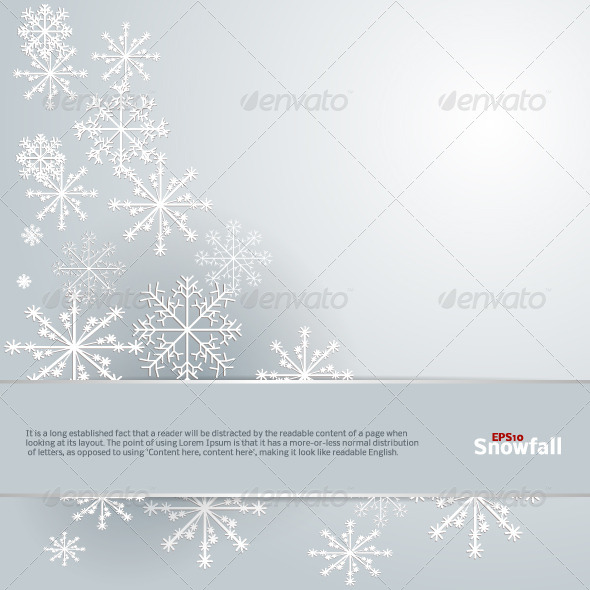 GraphicRiver Snowfall Background 4489605