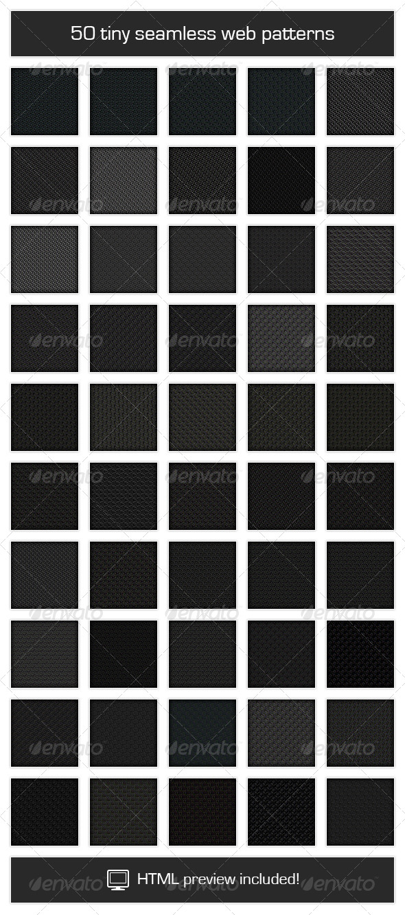 GraphicRiver 50 Tiny Seamless Web Patterns 4849714