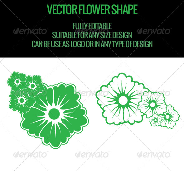 GraphicRiver Vector Flower Shape 4849820