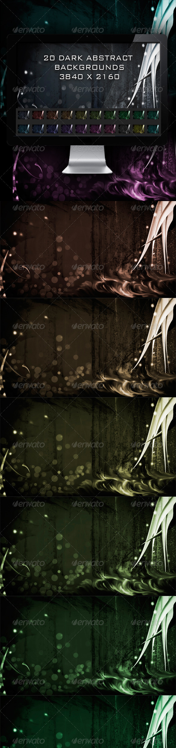 GraphicRiver 20 Dark Abstract Backgrounds 4809374