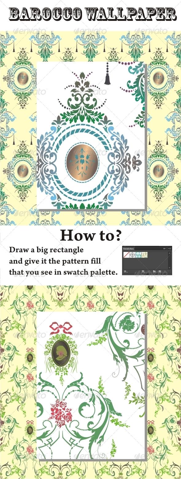 GraphicRiver Barocco Wallpaper 4850357