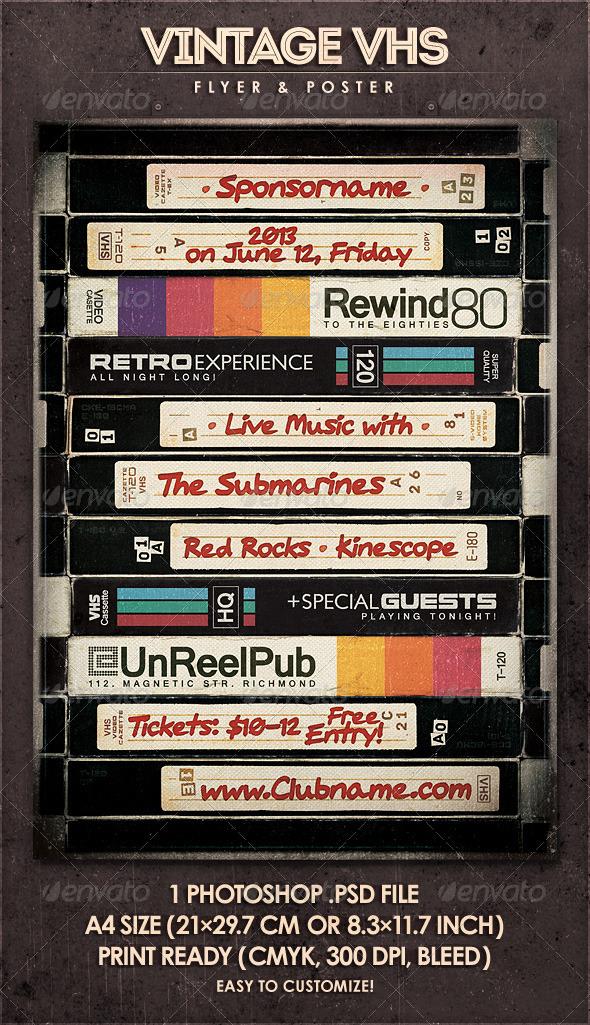 GraphicRiver Vintage VHS Flyer & Poster 4850373