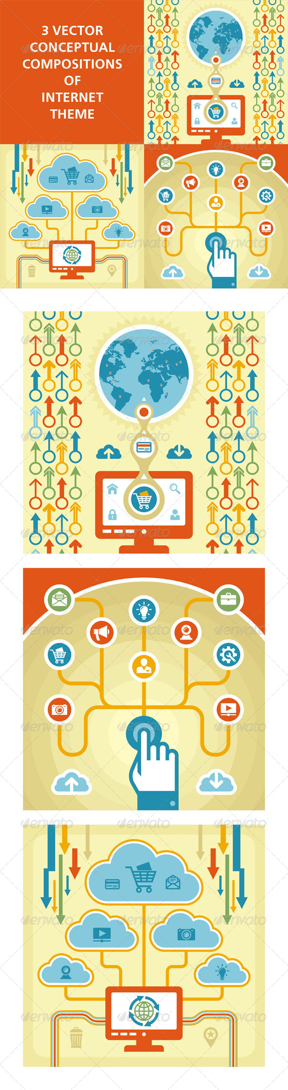 GraphicRiver 3 Internet Concept 4832514