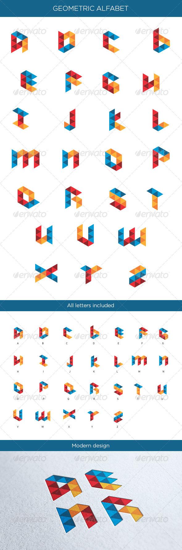 GraphicRiver Geometric Alphabet 4831970