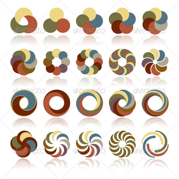 GraphicRiver Abstract Circular Design Elements 4850398