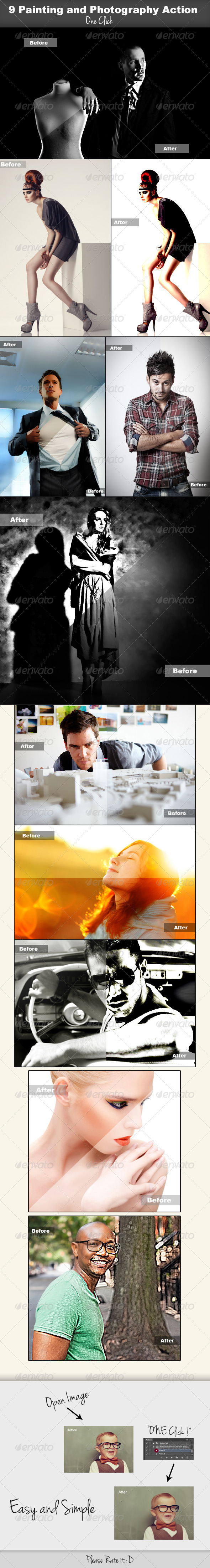 GraphicRiver 9 Painting and Photography Actions 4829920