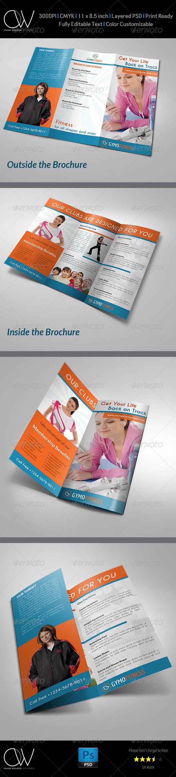 GraphicRiver Fitness GYM Tri-Fold Brochure 4790997