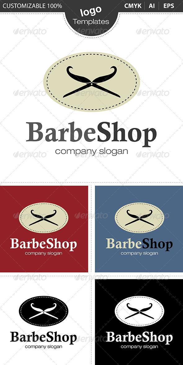 GraphicRiver Barbe Shop Logo 4630607