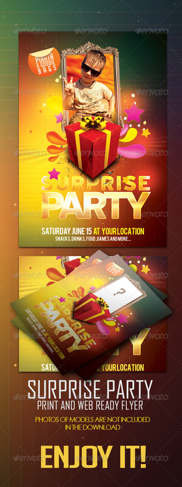GraphicRiver Surprise Party Invitation Post Card 4793201