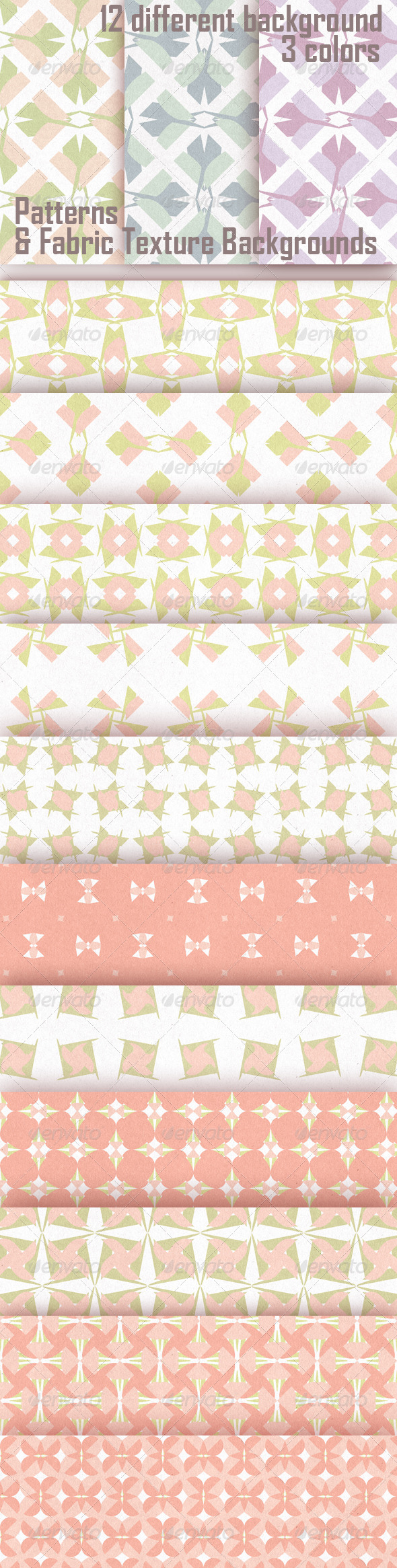 GraphicRiver Patterns & Fabric Texture Backgrounds 4850942