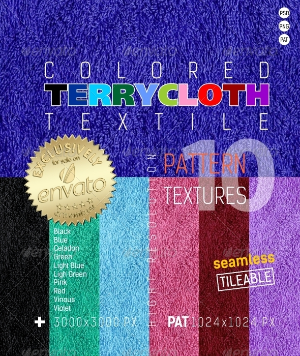 3DOcean Terry Colored Textile Texture 4850951