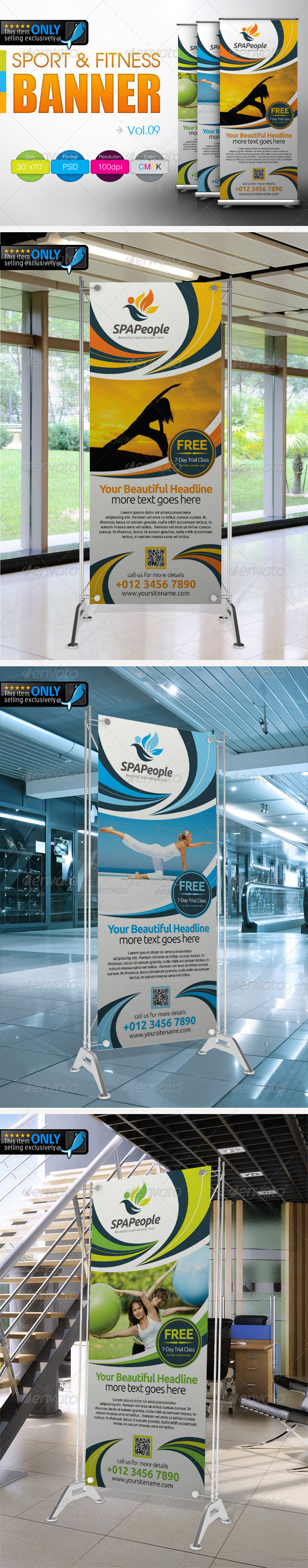 Fitness Banner Vol.8 - Signage Print Templates