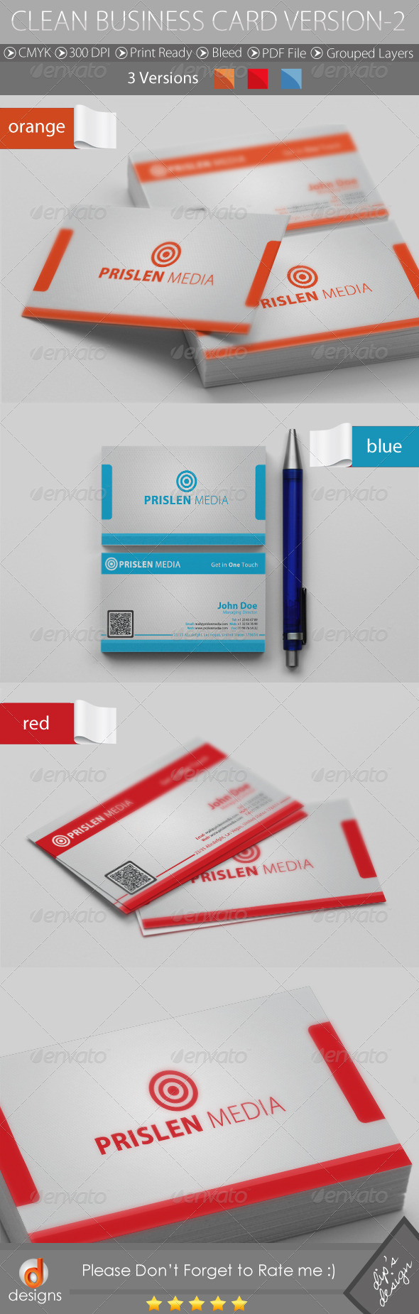 GraphicRiver CLEAN BUSINESS CARD VERSION-2 4656692