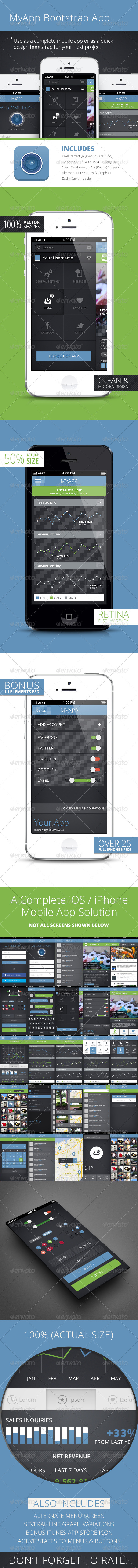 GraphicRiver My App Bootstrap Mobile Phone UI App 4851675