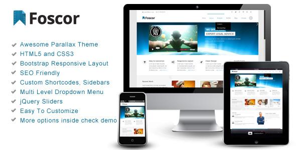 Foscor – Interactive Parallax - Responsive Theme