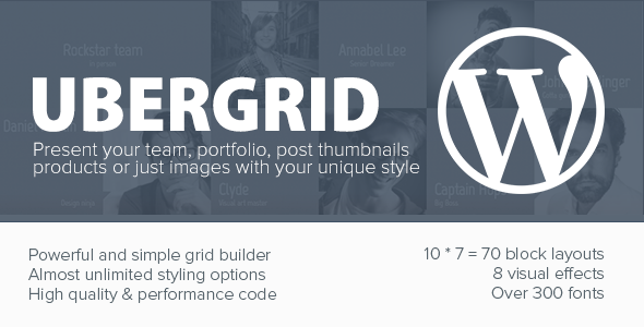 CodeCanyon UberGrid responsive grid builder for WordPress 4851992