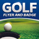Golf Event Flyer and Badge Template - GraphicRiver Item for Sale