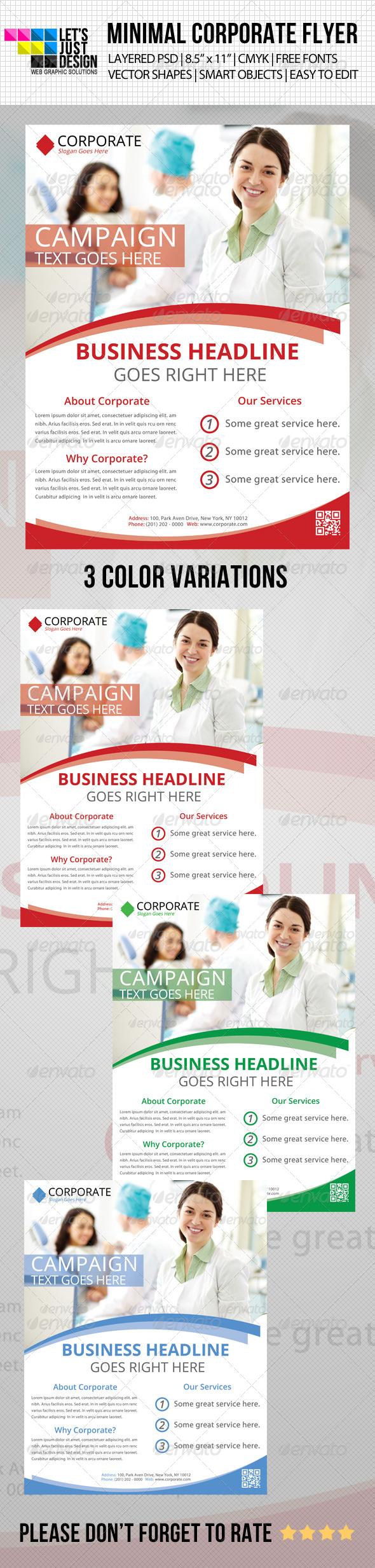 GraphicRiver Minimal Corporate Flyer 4786908