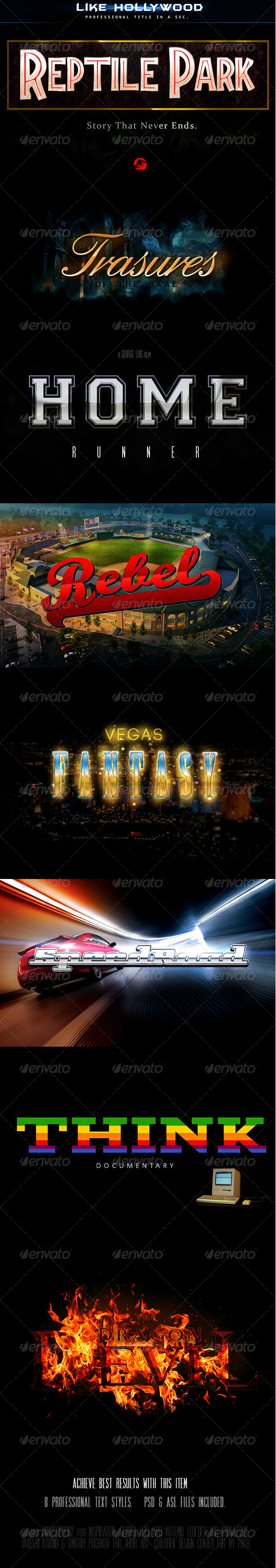 GraphicRiver Movie Text Effects & Styles II 4852126