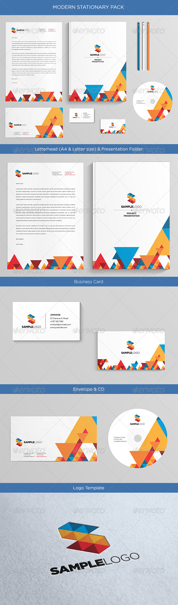 GraphicRiver Modern Stationary Pack 4852152