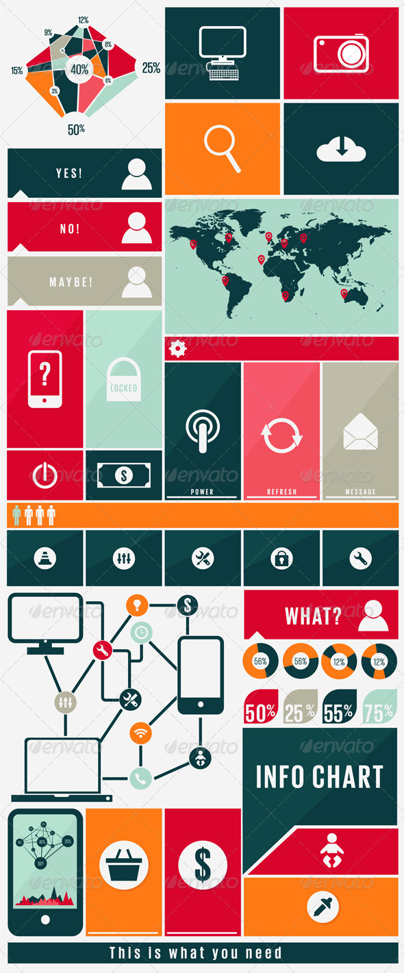 GraphicRiver Infographic Kit with Web Icons 4852166
