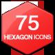 75 Minimal Hexagon Icons - GraphicRiver Item for Sale