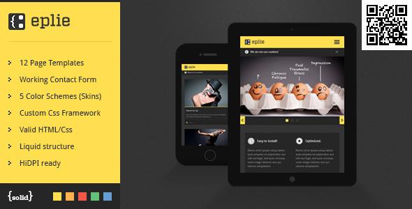 ThemeForest eplie Mobile HTML Css Portfolio Template 4852371