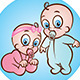Baby Boy and Girl - GraphicRiver Item for Sale