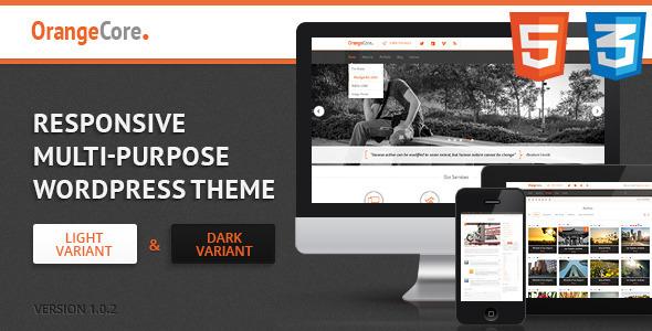 ThemeForest OrangeCore Multi-Purpose WordPress Theme 4836072