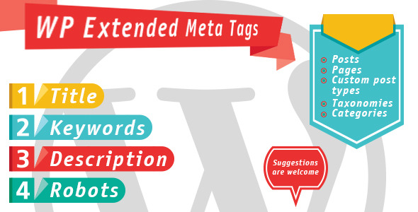 WP Extended Meta Tags is a plugin with wich you can add Title, Description and Keywords to ANY post, custom post, page, category or taxonomy you want. It works
