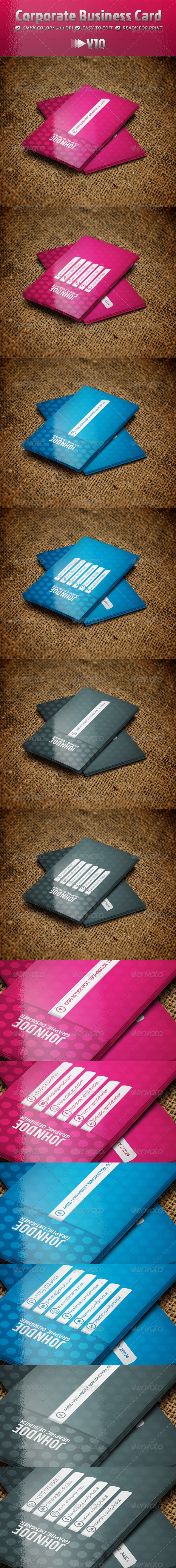 GraphicRiver Corporate Business Card V10 4853481