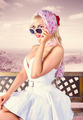 Beautiful retro fashion girl. australian landscape - PhotoDune Item for Sale