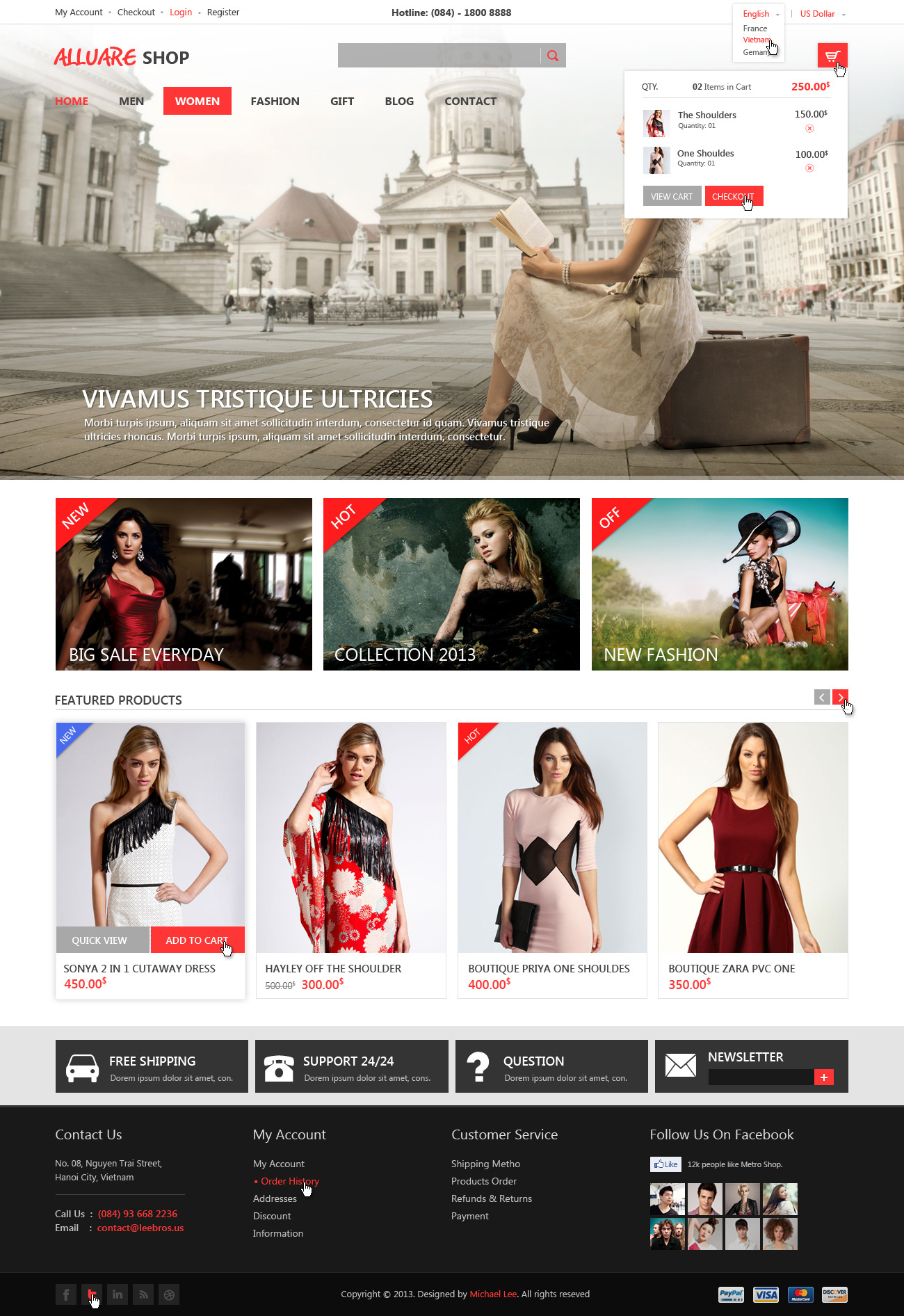 Alluere Fashion Shop - PSD