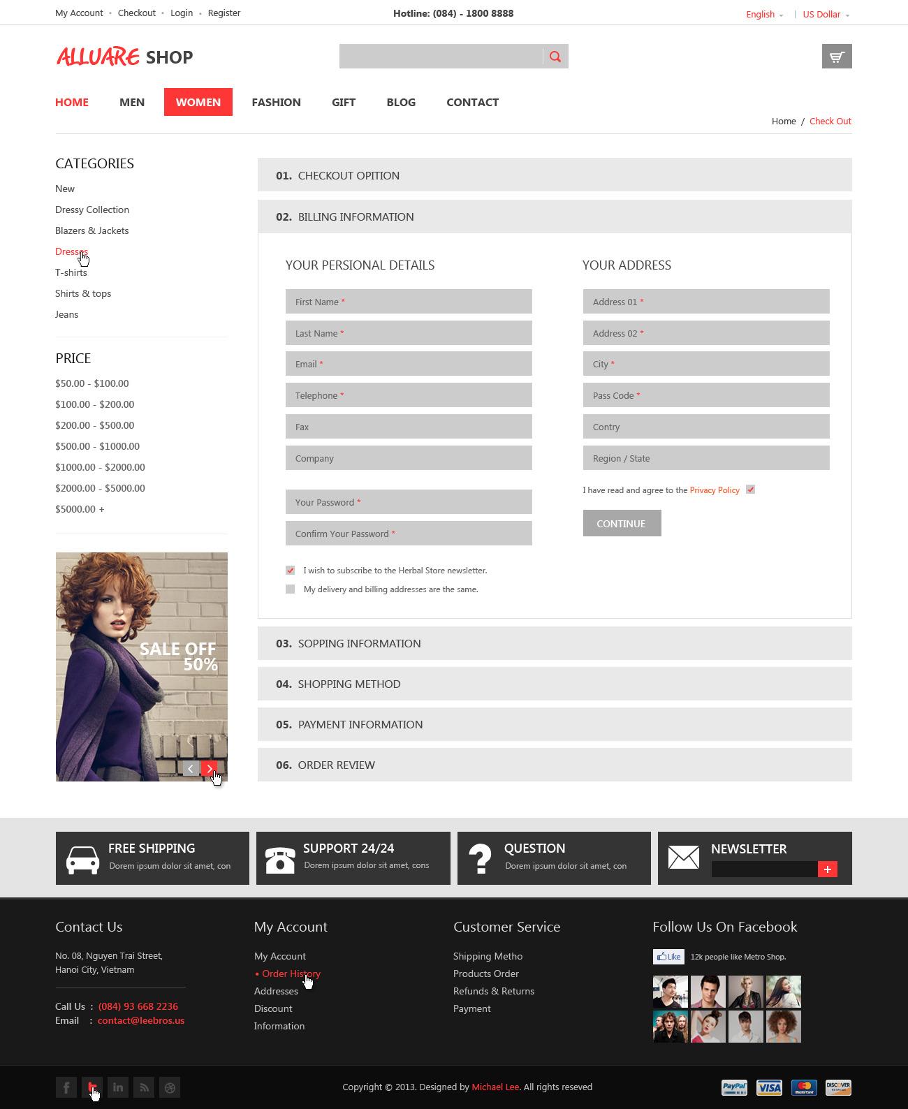 Alluere Fashion Shop - PSD